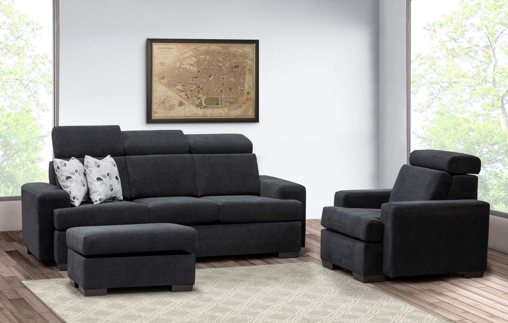 Tripoli Fabric Sofa Set