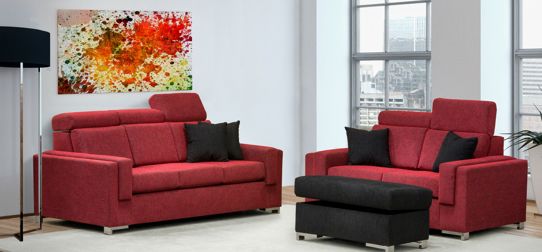 2129 Berlin Sofa and Loveseat
